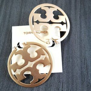Tory burch 18k gold earrings